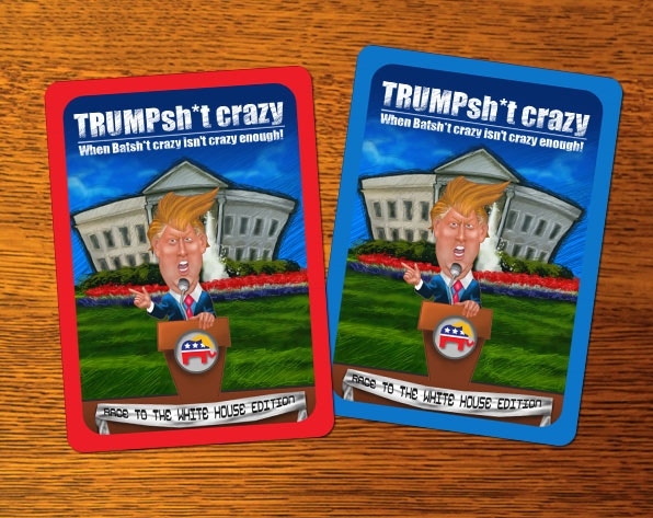 The backs of the playing card.