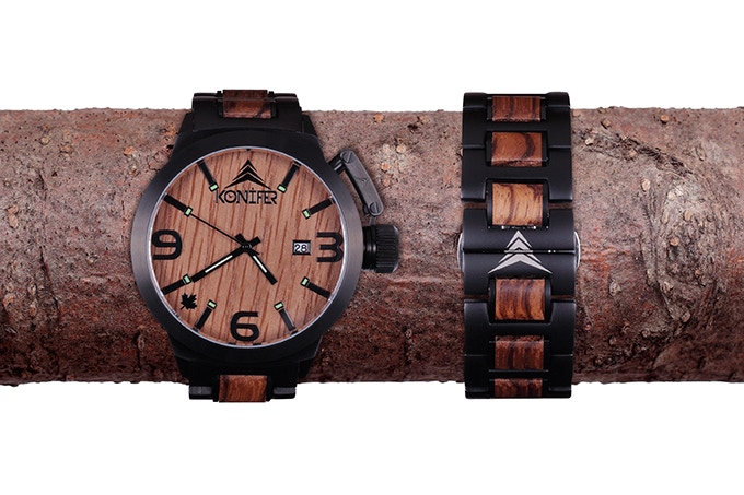 Black Matte Stainless steel + Zebrawood