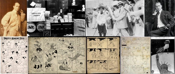 Winsor McCay photographs and original artwork shown are public domain images.