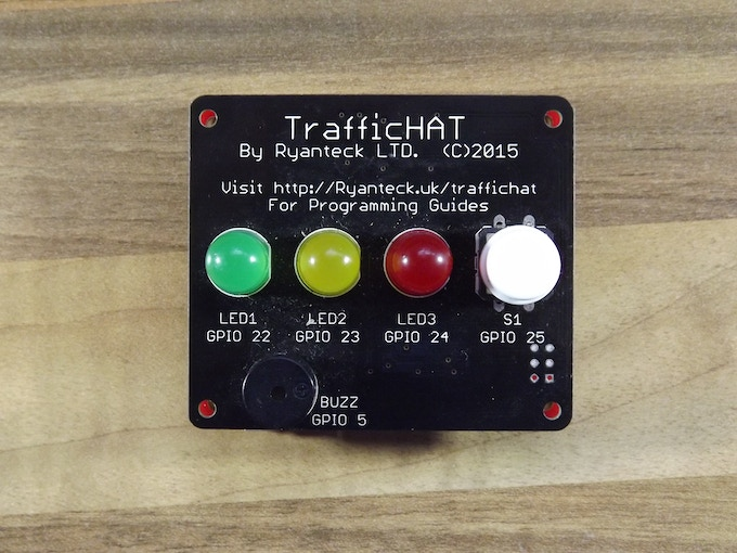 A TrafficHAT on top of the RTk.GPIO Board