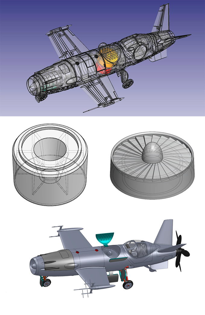 Inner turbofan | Diagram here depicted doesn't show fusselage pannelling