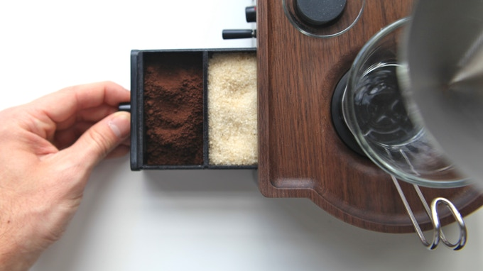 Sealed Drawer for Coffee, Sugar, or Tea (removable divider)