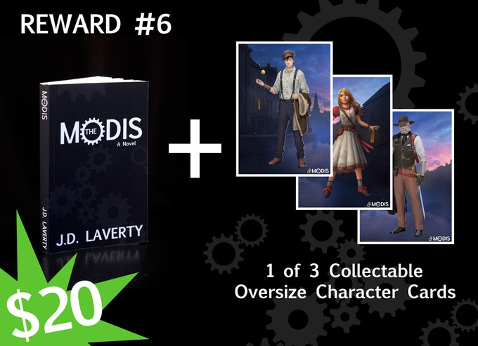 Reward #6 - Softcover and A Character Card