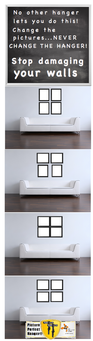 How to hang level pictures