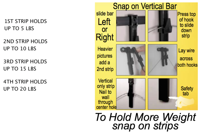 How to hang heavier pictures
