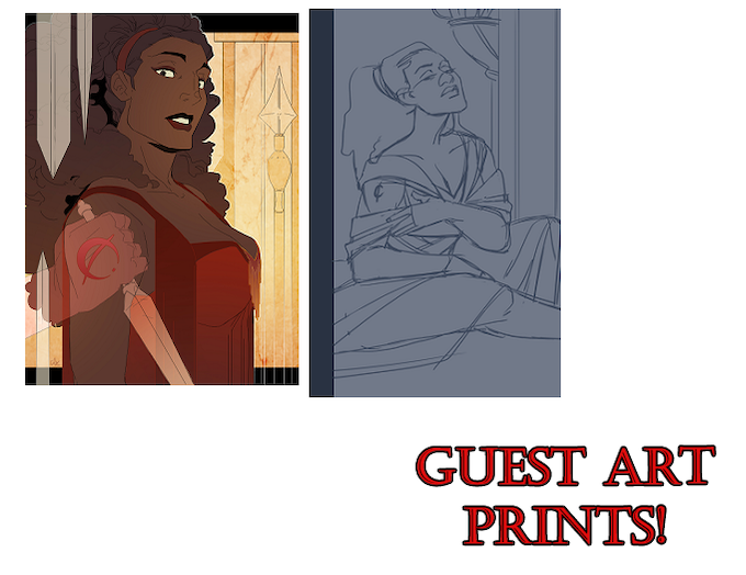 guest art by Jayd Aït-Kaci and Mildred Louis