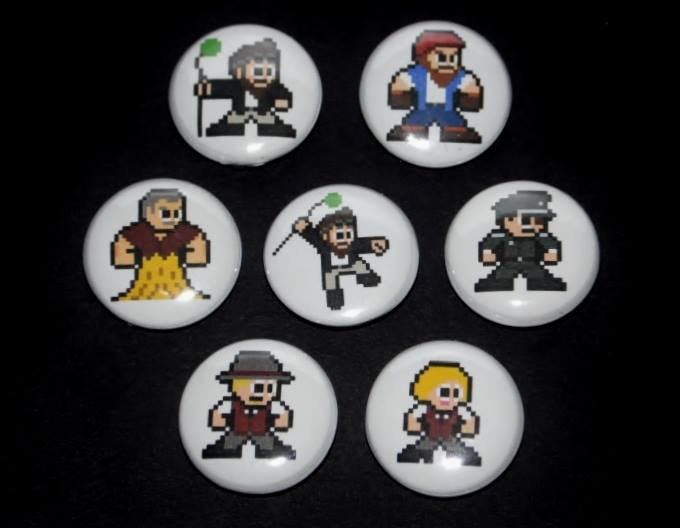 8-bit character button set! By 8-BitHero.org