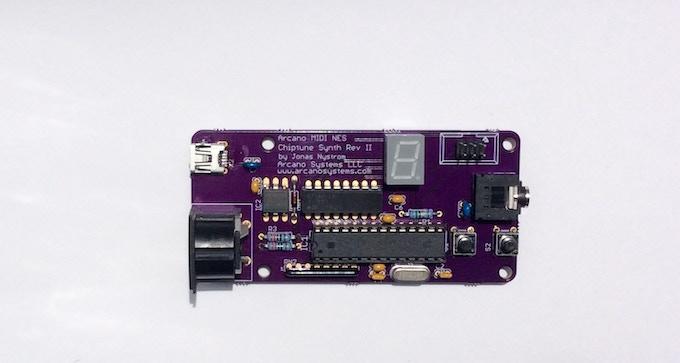 Arcano MIDI NES Chiptune Synth II PCB
