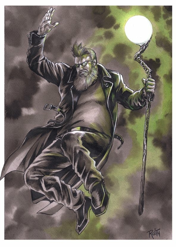 The Auroraman print by Mike Rooth