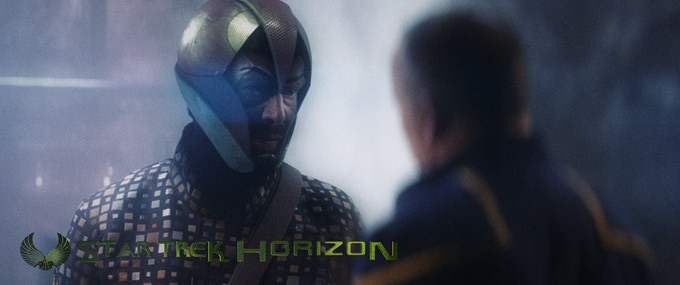 Due to last-second on-set issues, Daekon's helmet had to be entirely computer generated.