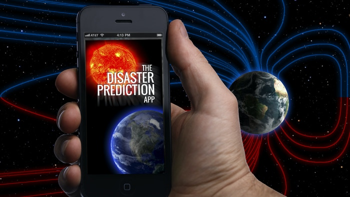 The Disaster App can send notifications of high-risk times for earthquakes, tropical storms, and solar storms.
