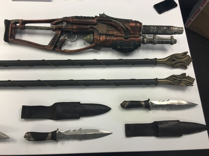 Prop weapons for Anne Dark