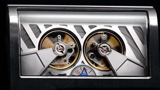 Twin balance wheels, the mechanical heart of the watch