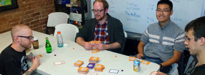 Playtesting with the NYC Playtest group.