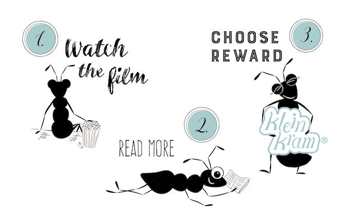 Bitte 1. Film ansehen, 2. nachlesen, 3. Belohnung wählen!