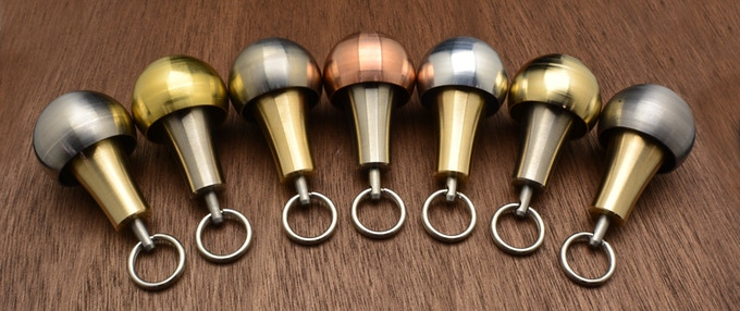 From left to right: Nickel, Brass, Titanium, Copper, Aluminum, Bronze, and Stainless Steel