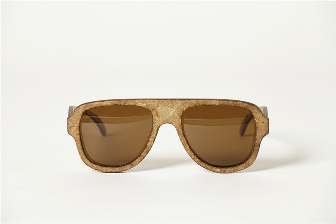 THE WORLD'S FIRST HEMP PLANE SPECIAL EDITION HEMPEARTH SUNGLASSES by Hemp Eyewear (Aviator Style) Made In The UK Front View