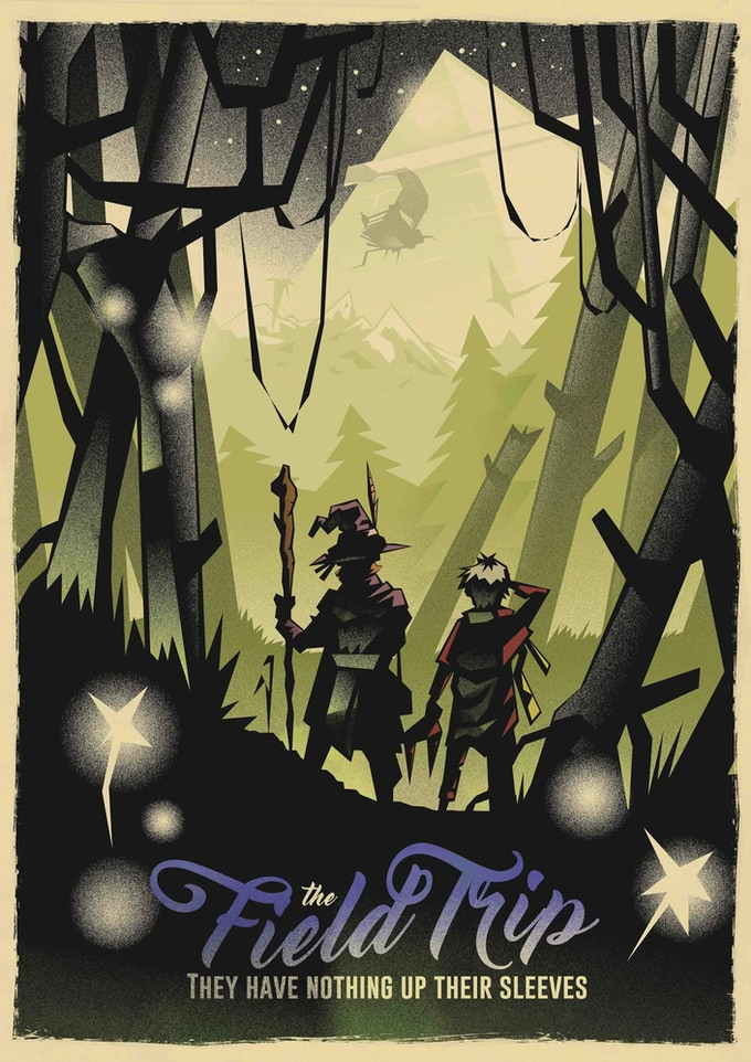 We played Field Trip prior to the Kickstarter; a fantasy jungle adventure where a group of wizards are sent on a research mission designed to kill them for insurance purposes