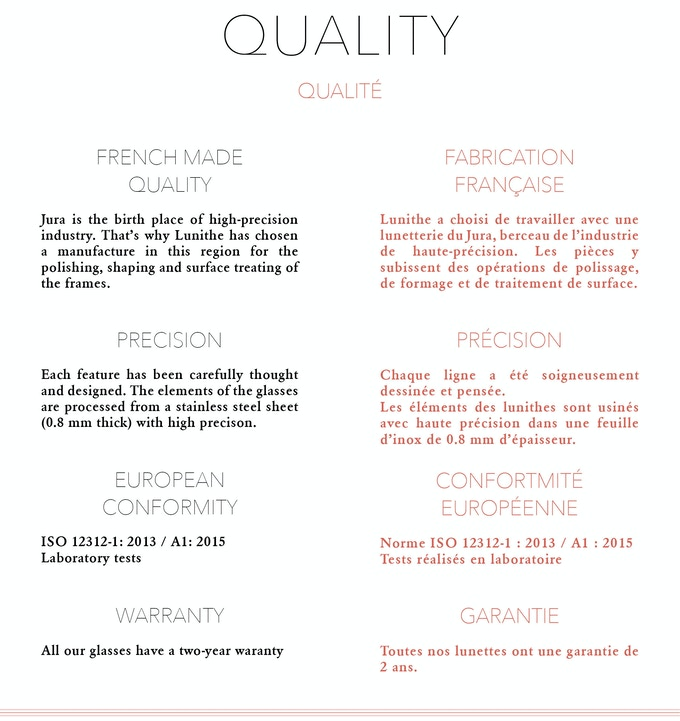 Quality - Qualité