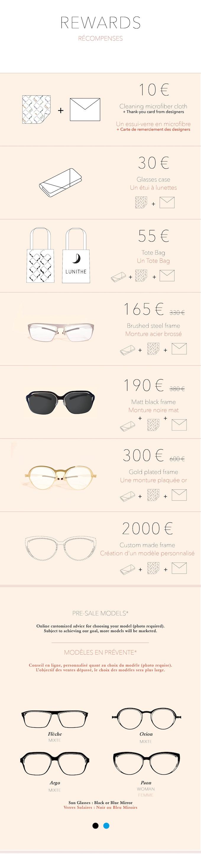Optical frames or Sun glasses - Montures Otiques ou Solaires