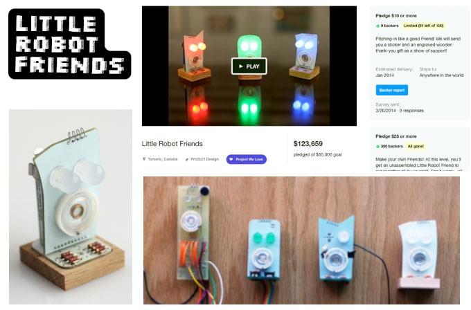 First Generation of Little Robot Friends