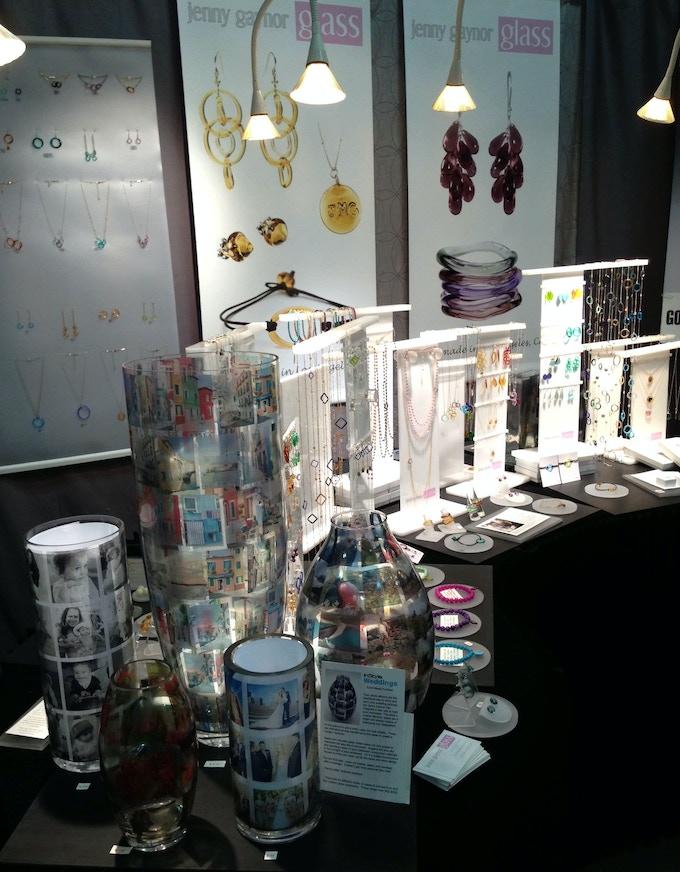 Memory vase your photos on a custom handmade glass vase for New york international gift fair