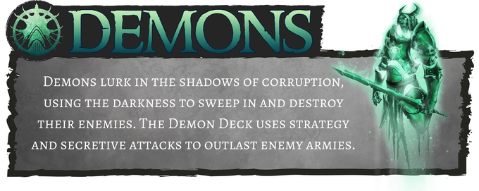 Demons - Utilizes strategy-based and secretive attacks