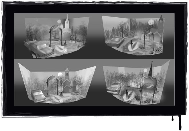 """""""The Opening Scene"""" Stage Set Concept Art"""