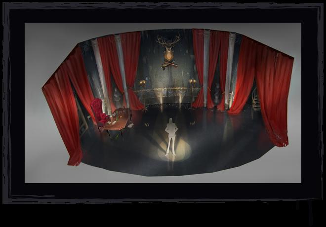 """The Hallway"" Stage Set Concept Art"