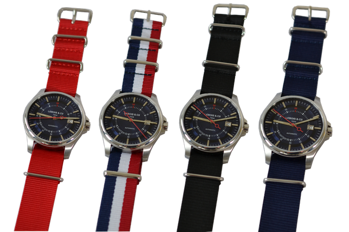 The 2nd Re-launch Edition on Red, Blue-White-Red G10, Black and Blue NATO strap
