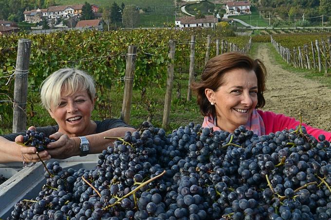 Mariavittoria (left) and Mariacristina, the Oddero sisters of Poderi e Cantine Oddero in La Morra in the Barolo denomination. Photo credit - Elisabetta Vacchetto