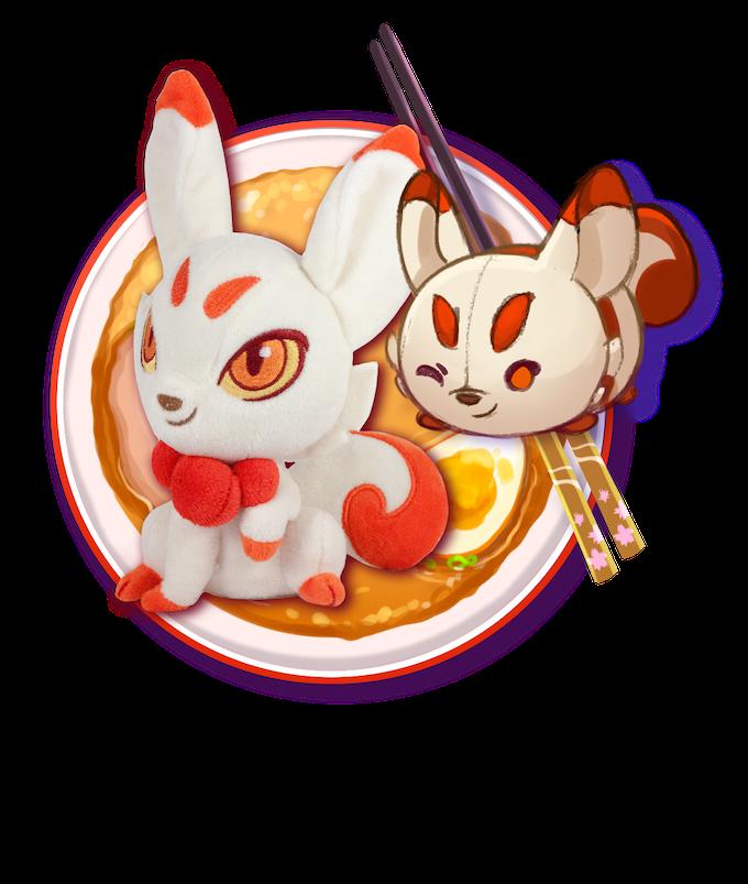 Includes: One Kitsune Plush + One Kitsune Mochi Plush