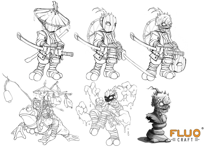The Ronin, General of the Threat - preparatory sketches