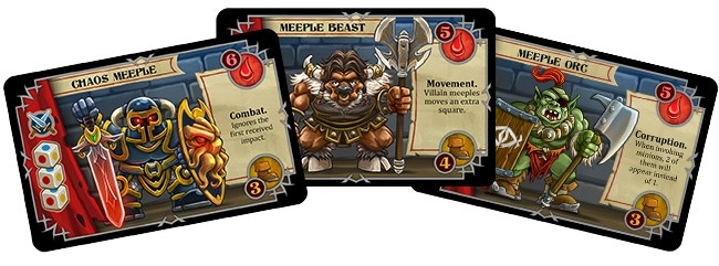 Boss character cards