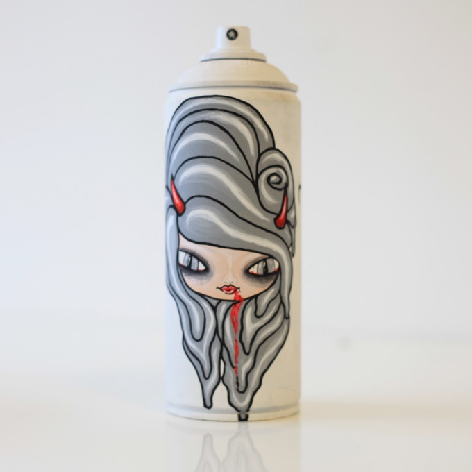 'Halloween' unique painted spray can