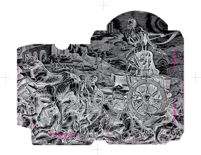 Carpe Diem tuck interrior printed in silver