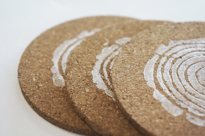 The Woodieful Cork Coasters