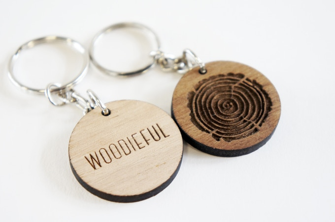 The Woodieful wooden Keychain