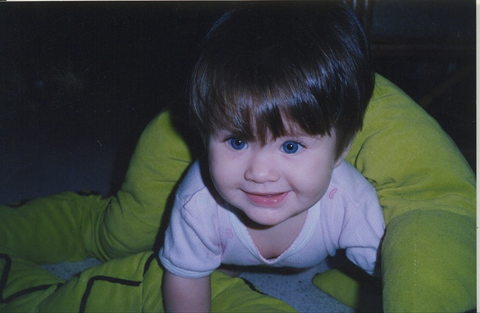 My Blue-Eyed Baby, born in Malaysia in 1997