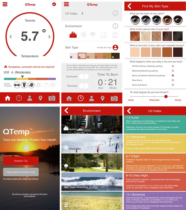 QTemp - The World's Smartest Wearable Weather Station by