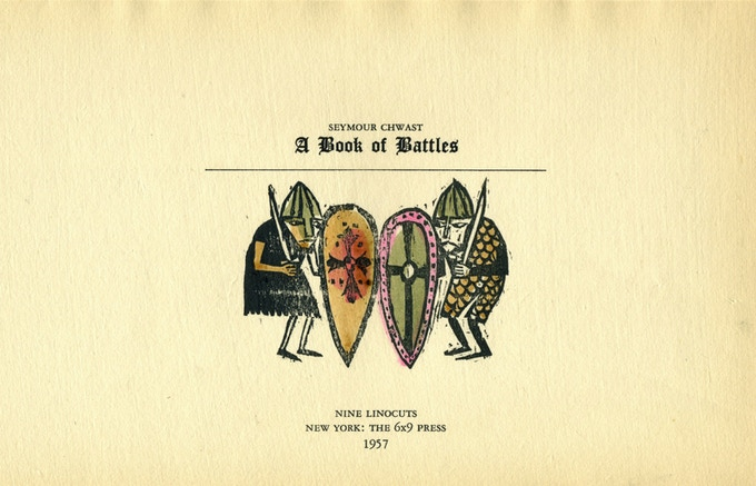 """Title page of """"A Book of Battles."""""""