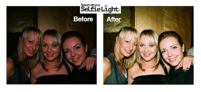SelfieLight - take selfies in the dark.