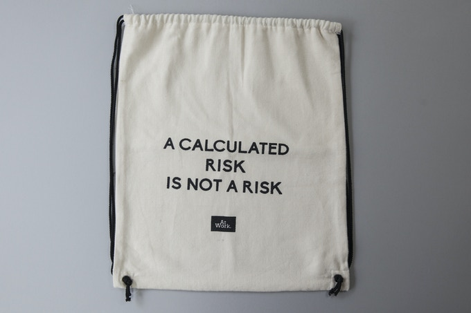 "30€ The AtWork cotton ""shoe bag"" designed by Kampala AtWorkers"