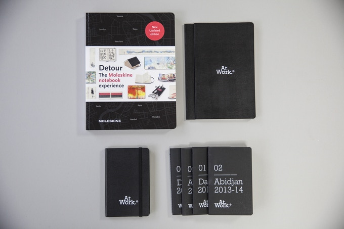 "180€ ""AtWork package"" : 1 Detour book, 4 AtWork Chapters 0-4, 2 notebooks, 1 AtWork sketchbook"