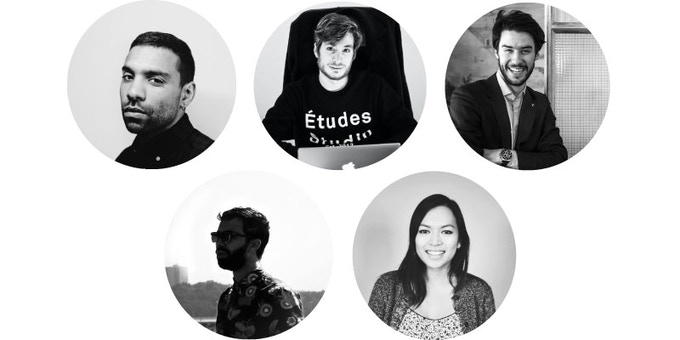 Roche Musique team : Jean Janin a.k.a Cézaire, Thibault Dury, Alexis Astre, Aymard Caillol & Lisa Nguyen