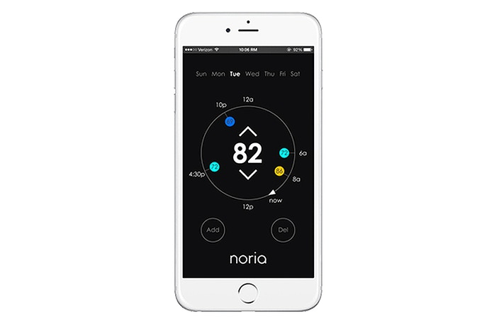 Using the Noria app, you can easily set up a weekly schedule to ensure you save energy without sacrificing comfort.