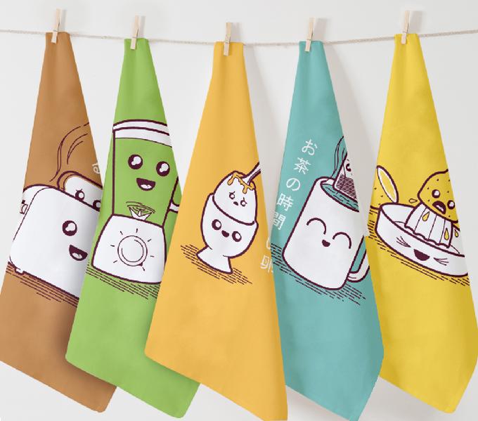 Kitchin taoru (キッチンタオル) Twisted Japanese inspired tea towels ...