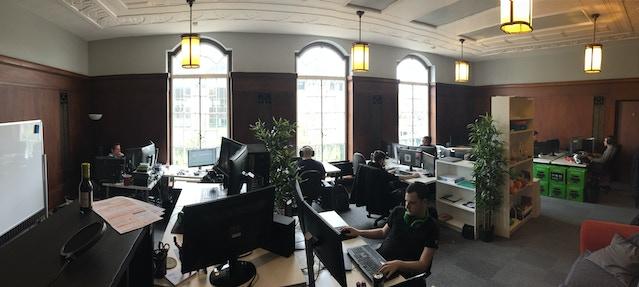 Bulkhead Interactive at the studio in Derby, UK