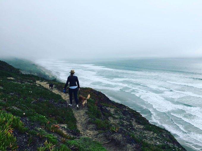 Monica at Fort Funston, where we'll shoot episode 2