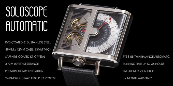 Specifications for SOLOSCOPE Automatic